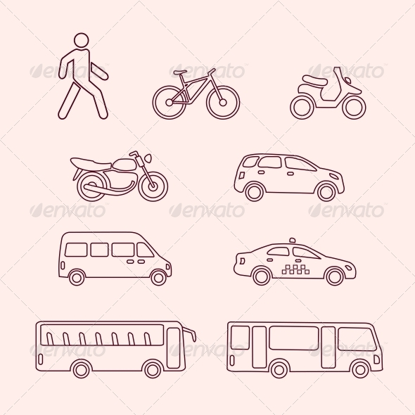 Transportation Icons - Web Elements Vectors
