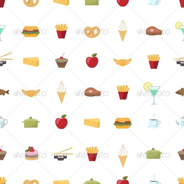 Food Pattern Seamless Background - Backgrounds Decorative