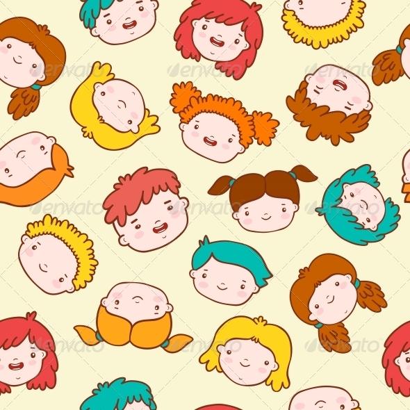 Doodle Kids Background - Backgrounds Decorative