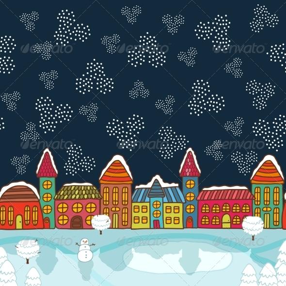 Christmas House Background - Christmas Seasons/Holidays