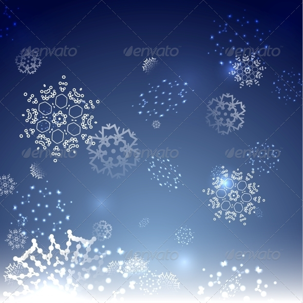 Blue Snowy Magic Christmas Background - Christmas Seasons/Holidays
