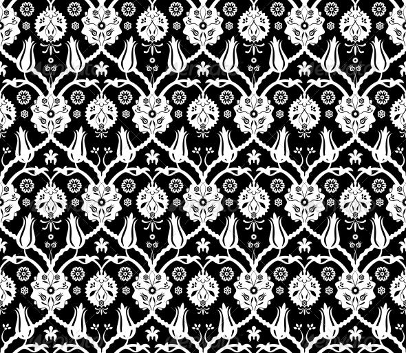 Floral Arabic Pattern - Backgrounds Decorative