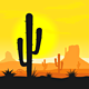 Cactus plants in desert - GraphicRiver Item for Sale