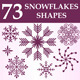 Snowflakes Custom Shapes - GraphicRiver Item for Sale