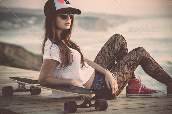 Skater Girl - Stock Photo - Images