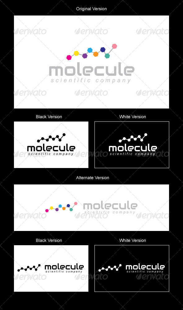 Molecule Logo Design - Vector Abstract