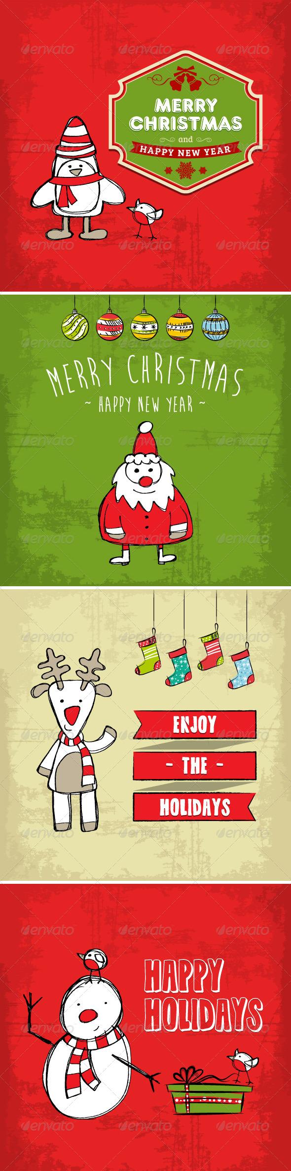 Collection of Christmas and Holiday Cards - Christmas Seasons/Holidays