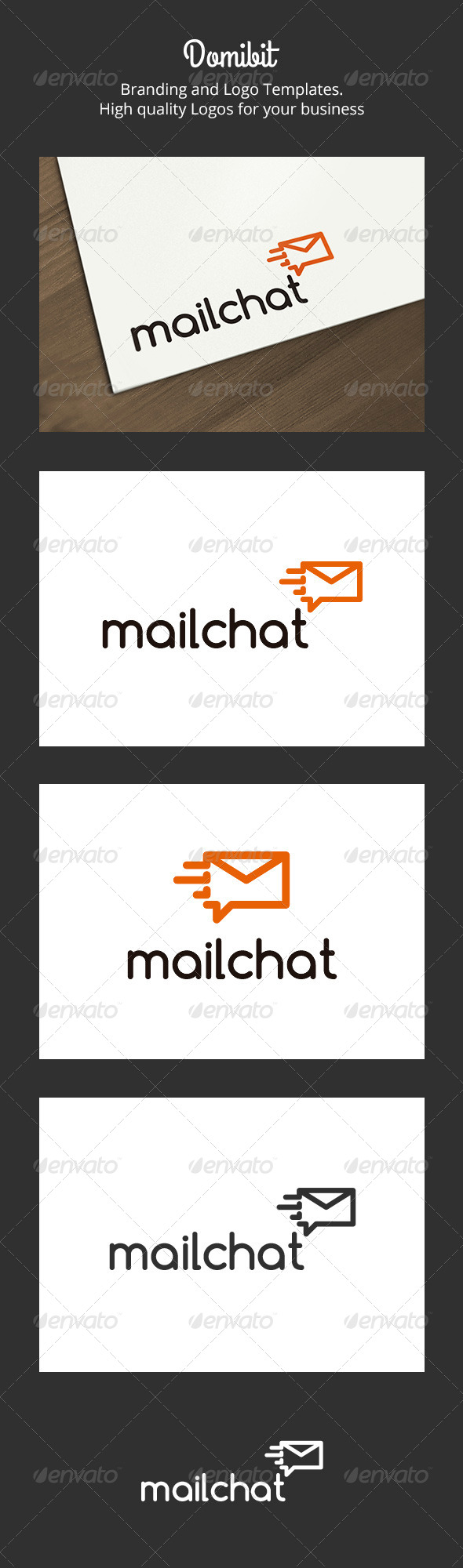 Mail Chat Logo - Objects Logo Templates