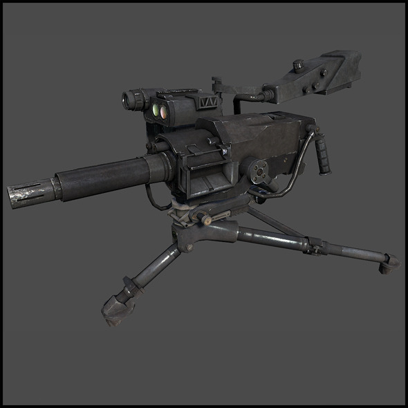 Mk 47 Striker -  40 mm automatic grenade launcher - 3DOcean Item for Sale