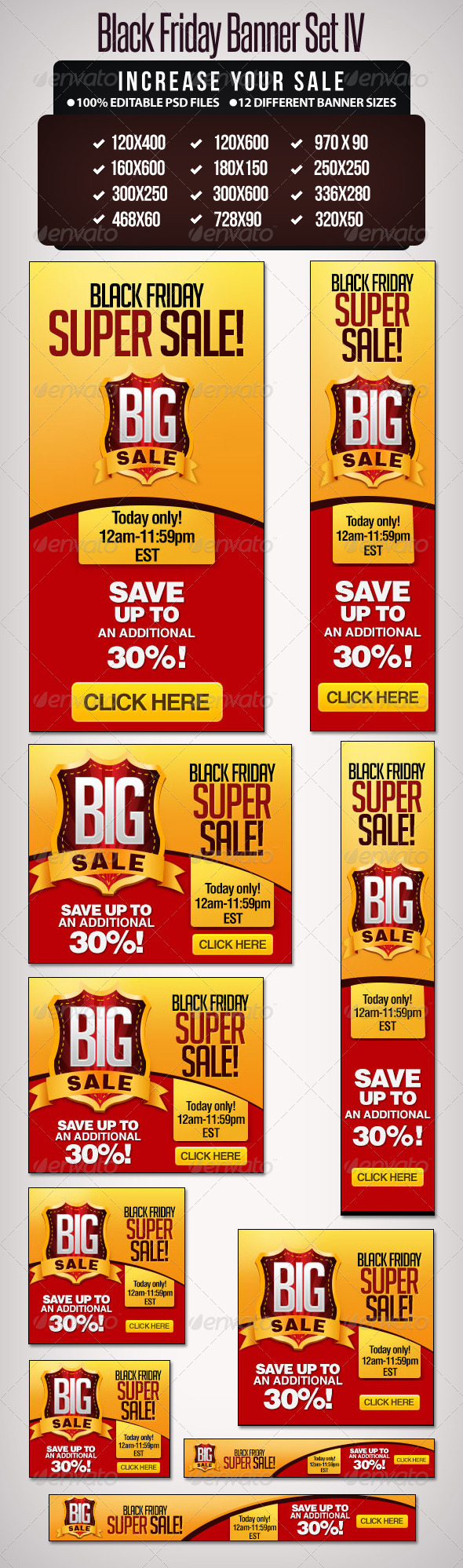 Big Sale Banner Set  - III - Banners & Ads Web Elements