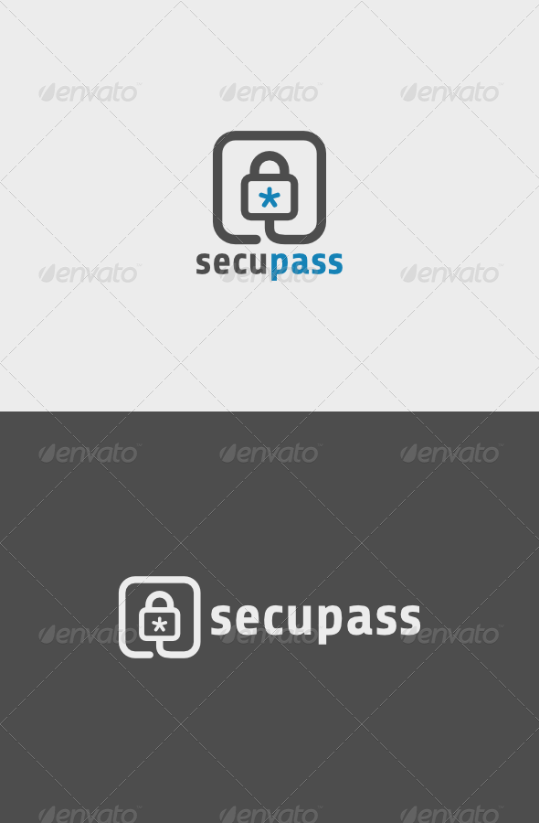 Secu Pass Logo - Objects Logo Templates
