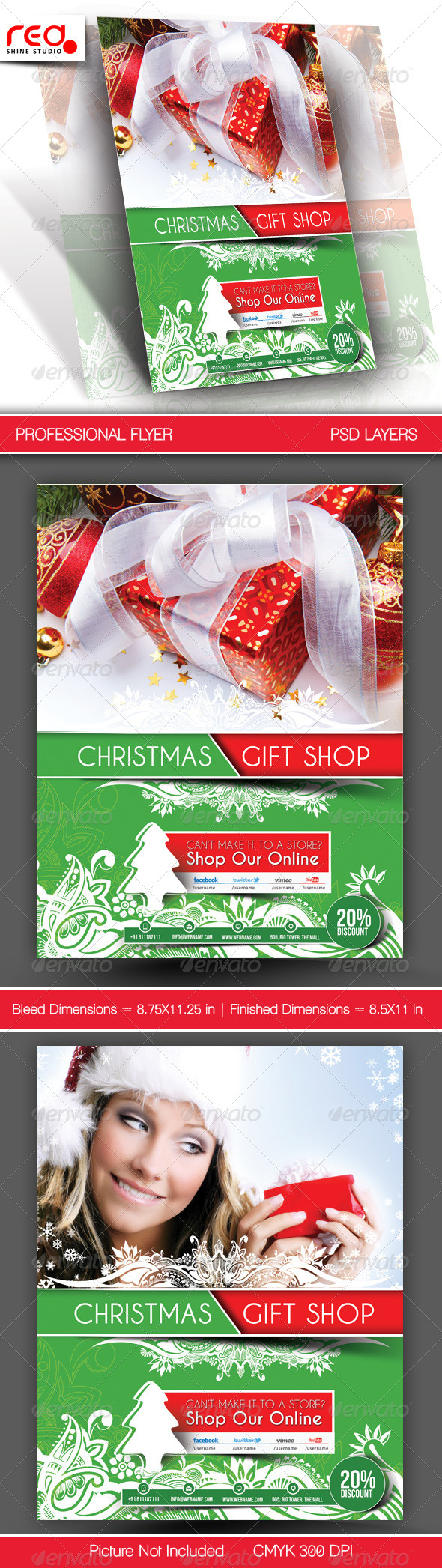 Gift Shop Flyer Poster Template - 3 - Holidays Events