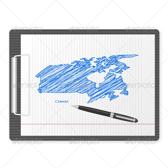 Clipboard Canada Map - Objects Vectors