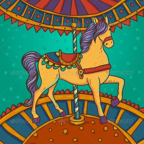 Horse with Flowers and Ornaments - Patterns Decorative