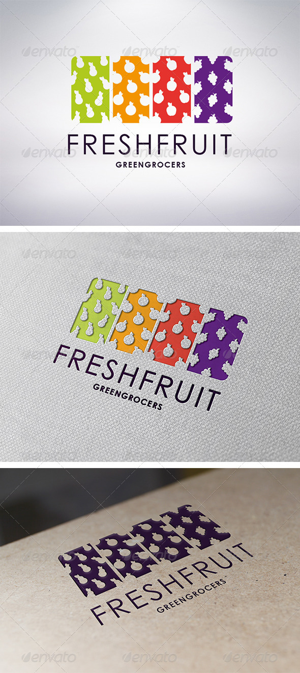 Fresh Fruit Logo Template - Food Logo Templates