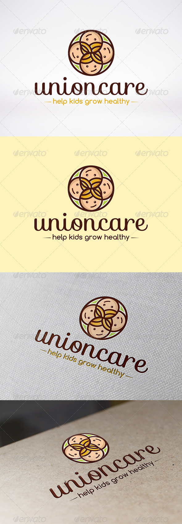 Unity Care Logo Template - Humans Logo Templates