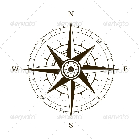 Compass Wind Rose - Travel Conceptual