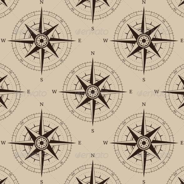 Navigation Compass Seamless - Backgrounds Decorative