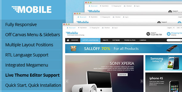 Lexus Mobile Responsive Opencart Theme - Technology OpenCart