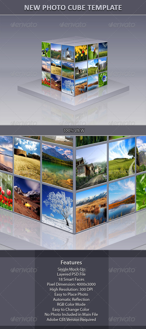 New Photo Cube Template - Miscellaneous Photo Templates