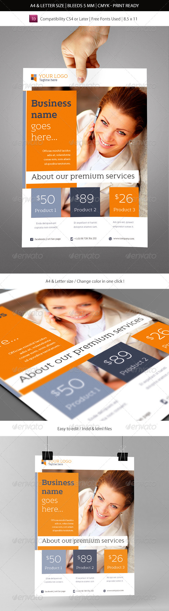 Corporate & Business Commerce Flyer Template - Commerce Flyers