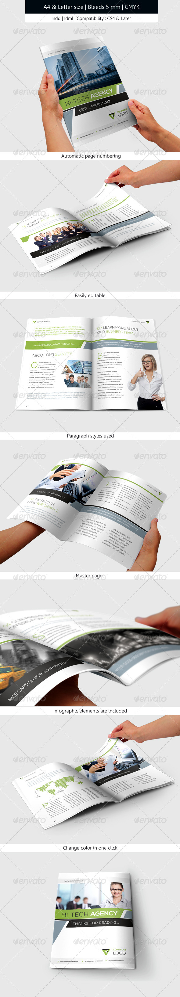 Corporate & Business Brochure Template Design - Informational Brochures