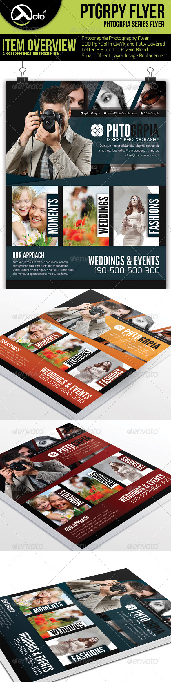 Photographia Photography Service Flyer - Flyers Print Templates