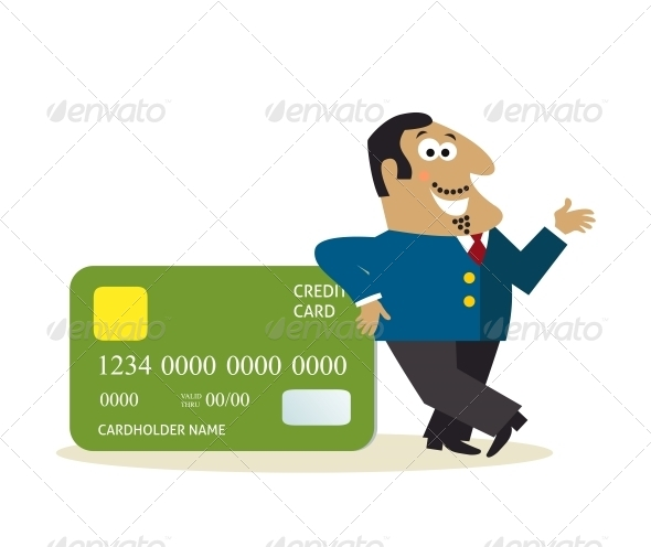 Businessman with Credit Card - Retail Commercial / Shopping