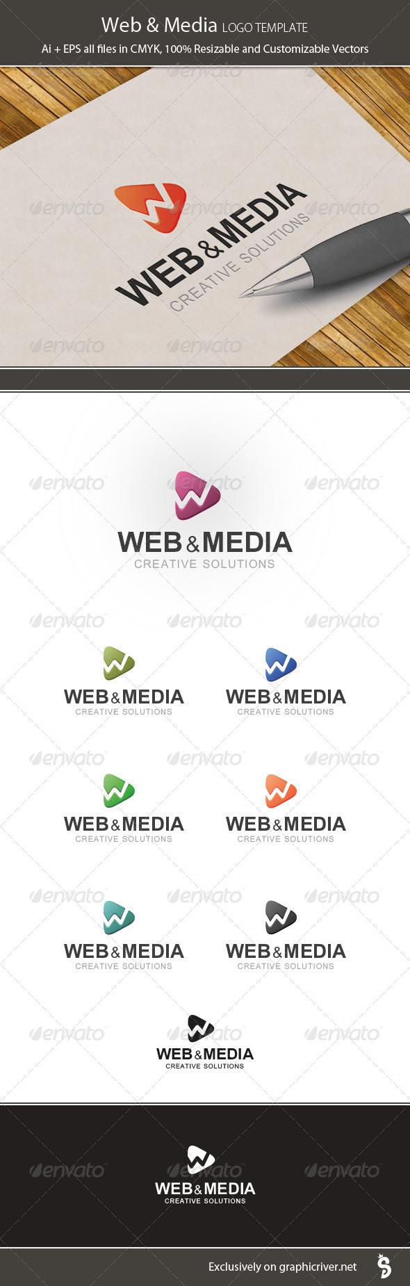 Web & Media Logo Template - Vector Abstract