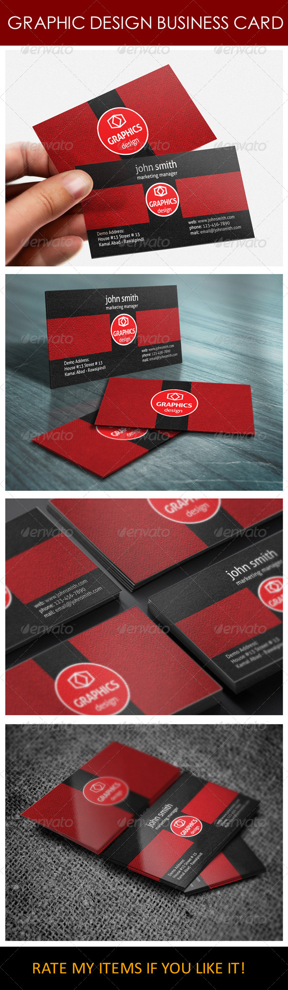 Graphic Design Business Card - Corporate Business Cards