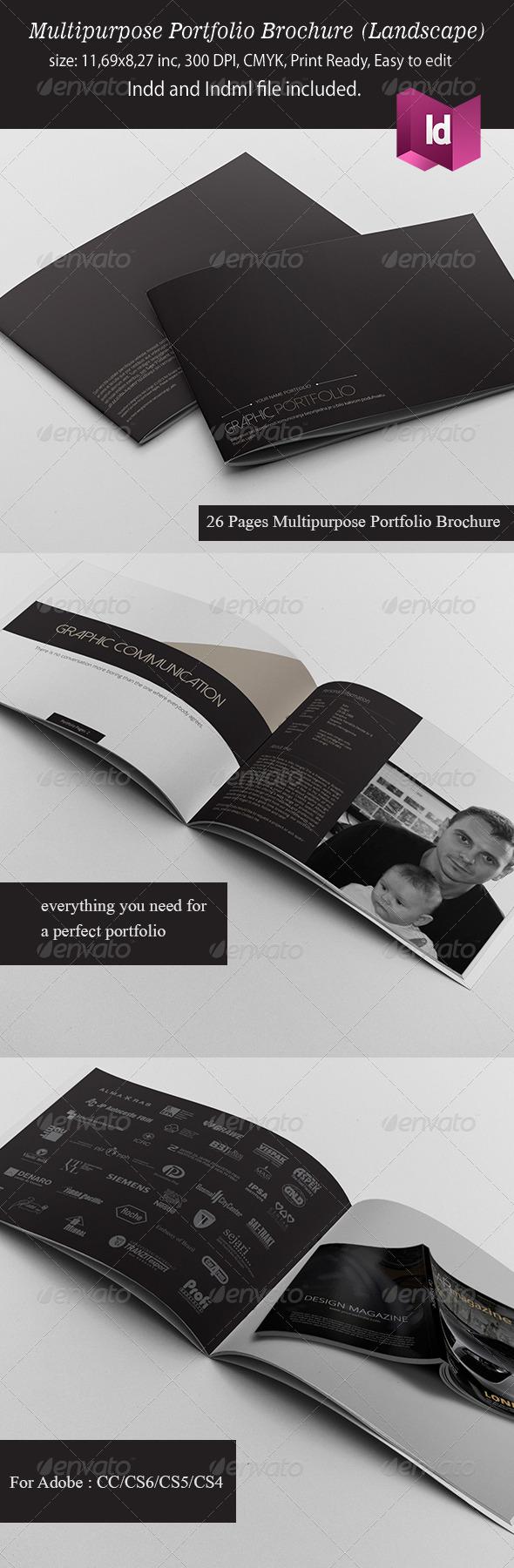 Multipurpose Portfolio Brochure Landscape Version - Portfolio Brochures