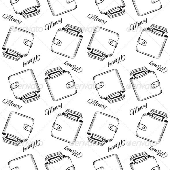 Seamless Wallet Pattern - Patterns Decorative