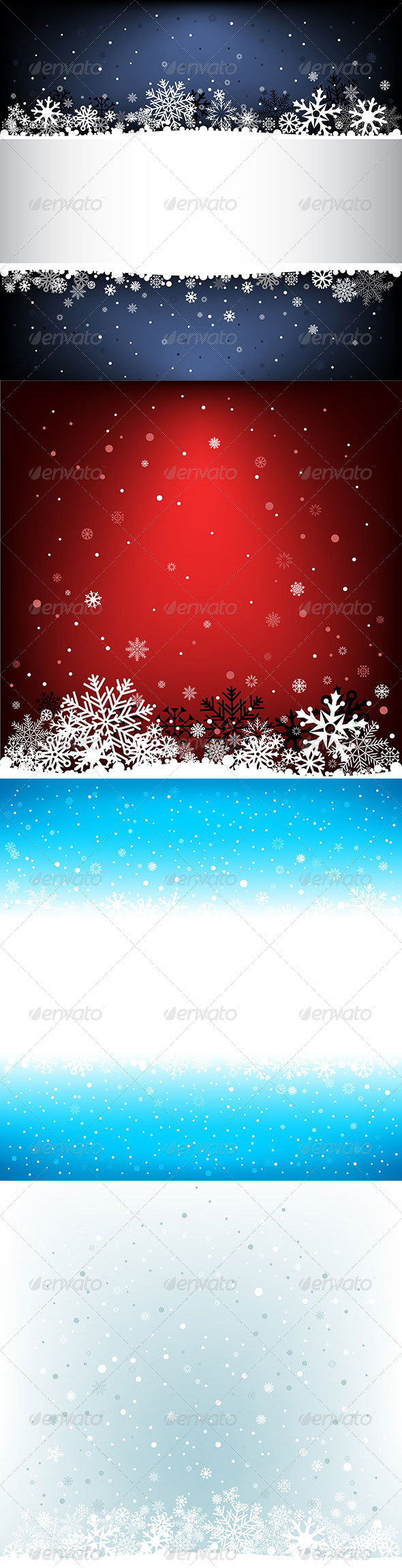 Snow Mesh Background with Text Area - Christmas Seasons/Holidays