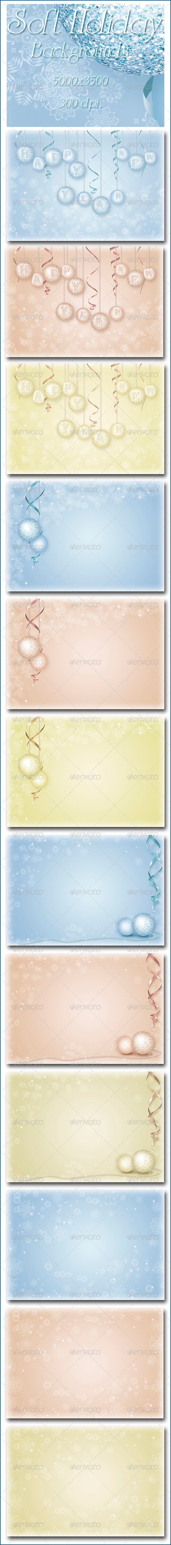 Soft Holiday Backgrounds - Abstract Backgrounds