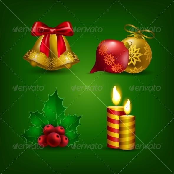 Collection of Colorful Christmas Ornaments - Christmas Seasons/Holidays
