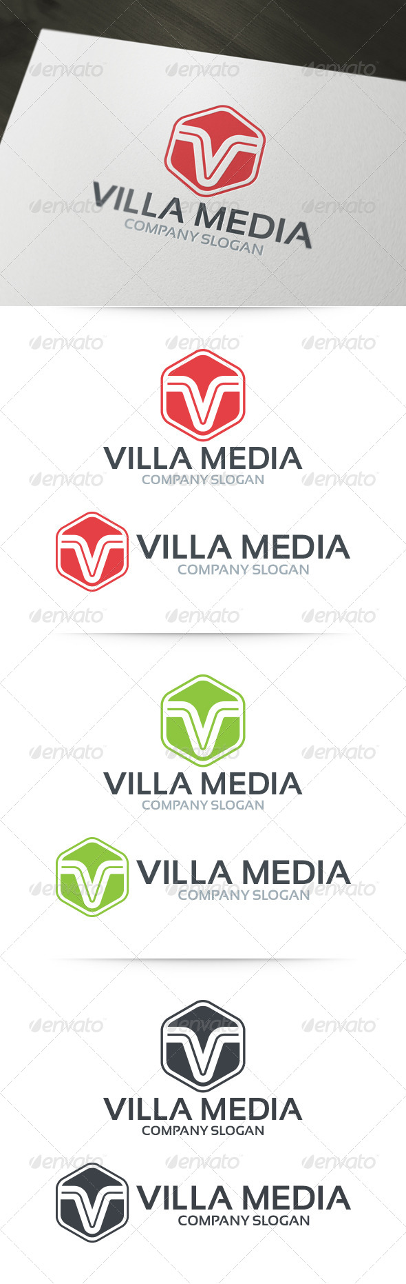 Villa Media - Letter V Logo - Letters Logo Templates