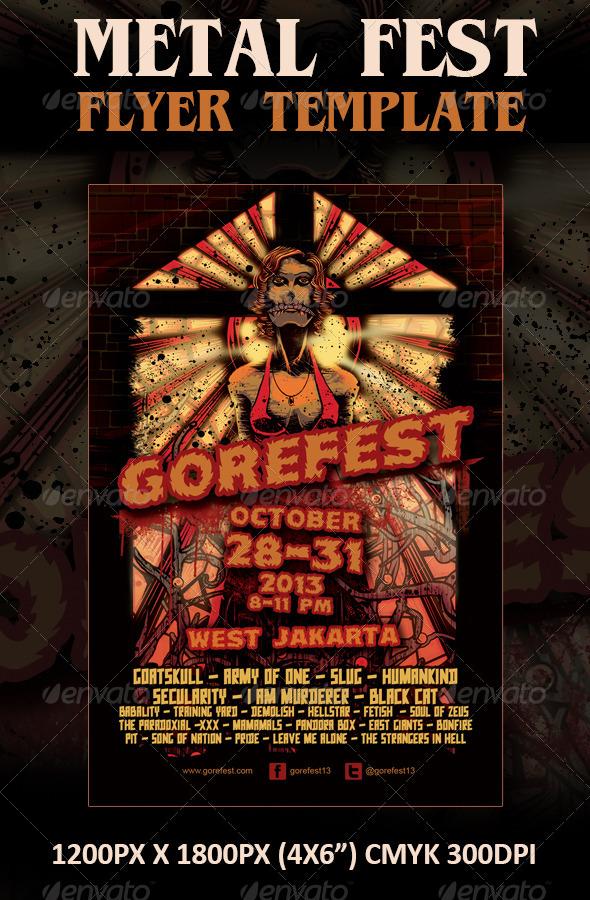 Horror/Metal Fest Flyer Template - Concerts Events