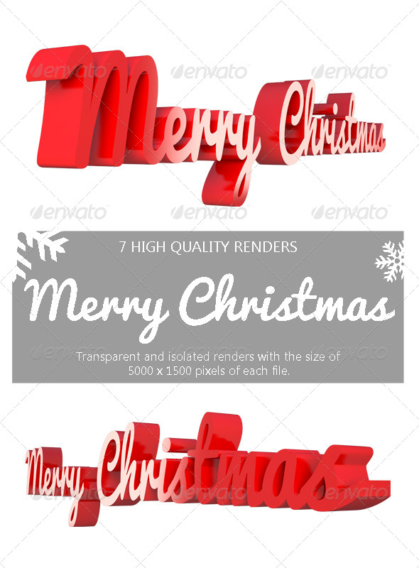 Merry Christmas 3D - 3D Backgrounds