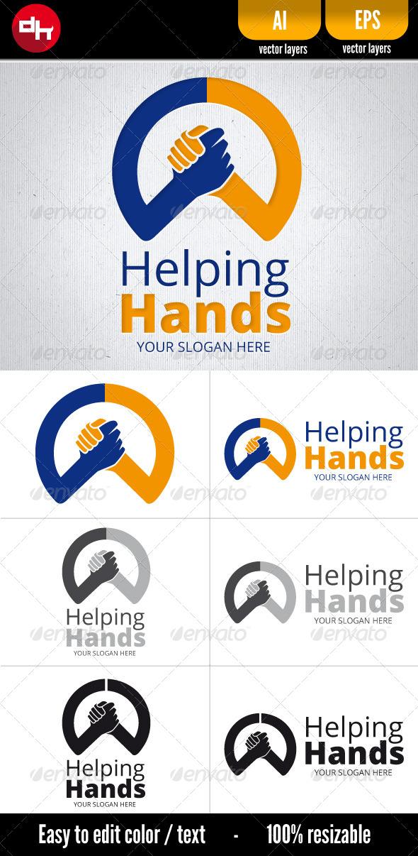 Helping Hands - Humans Logo Templates