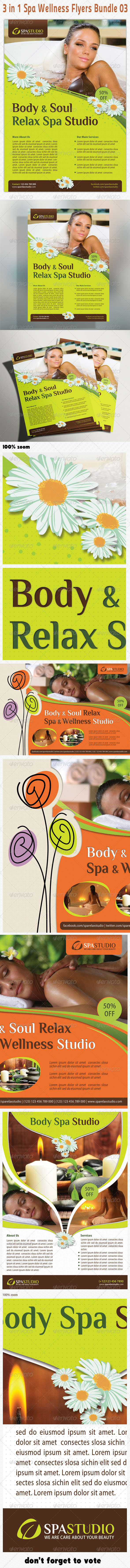 3 in 1 Spa Wellness Flyers Bundle 03 - Holidays Events