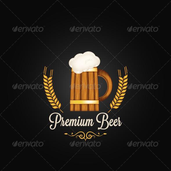 Beer Mug Vintage Background - Food Objects