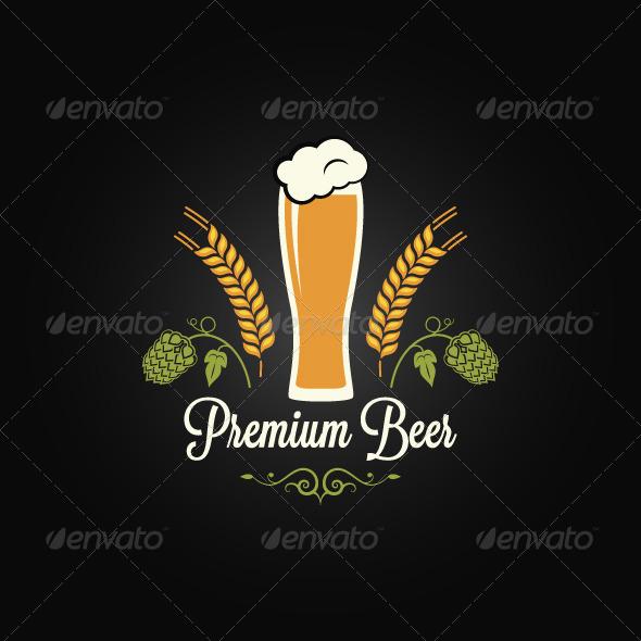 Beer Bottle Vintage Design Background - Food Objects