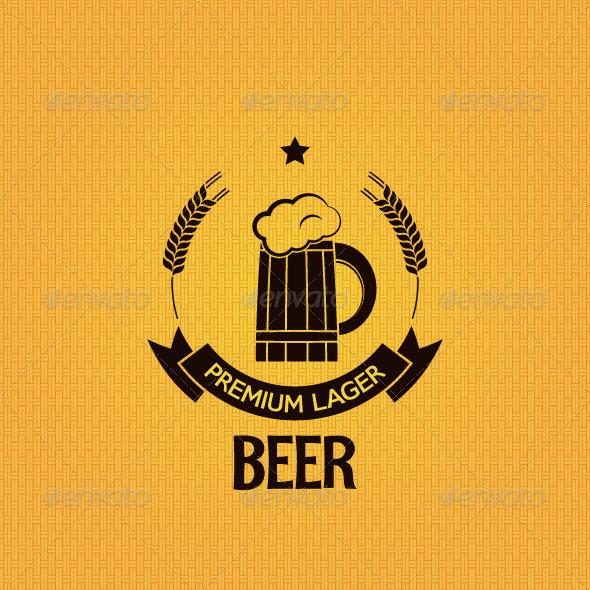Beer Mug Old Label Background - Food Objects