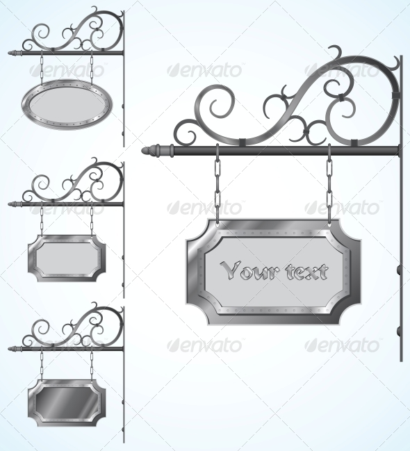 Wrought Iron Signs for Old-Fashioned Design - Borders Decorative