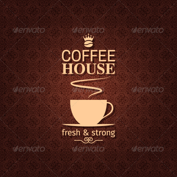 Coffee Vintage Pattern Background - Food Objects