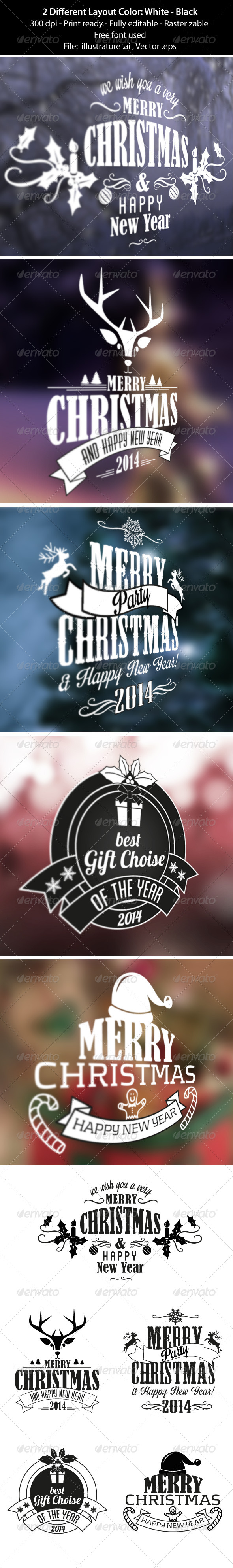 Merry Christmas Badge & Labels - Badges & Stickers Web Elements