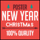 Vintage Christmas & New Year Party Poster - GraphicRiver Item for Sale