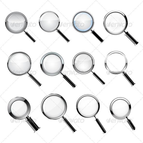 Magnifying Glass Set - Vectors