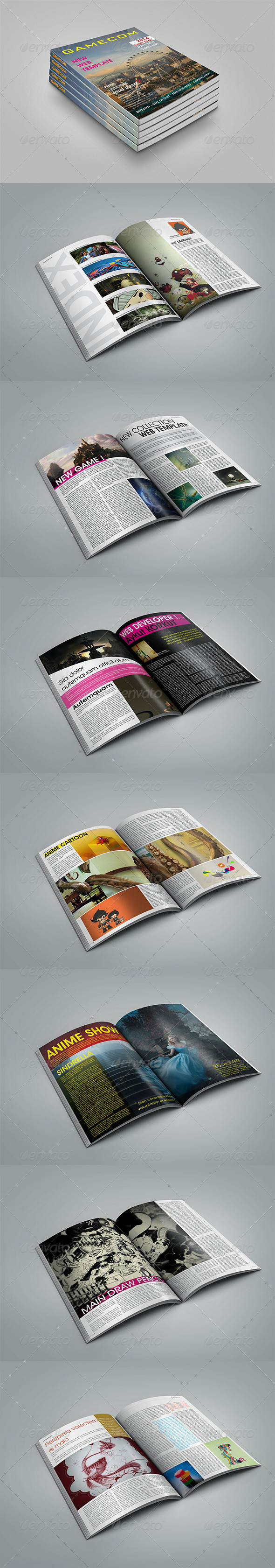 Gamecom Magazine Template - Magazines Print Templates
