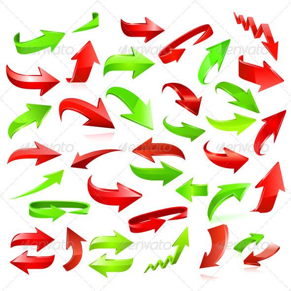 Arrow Icon Set - Objects Vectors